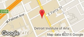 Map to 5447 Woodward Avenue, Detroit, Michigan 48202