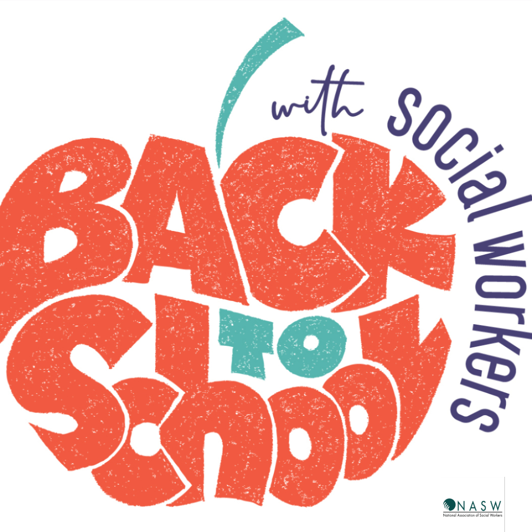 Back to School with School Social Work logo by NASW